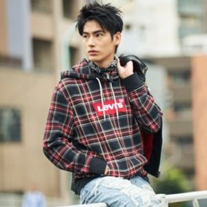 Levi's Modern Pullover Plaid Hoodie